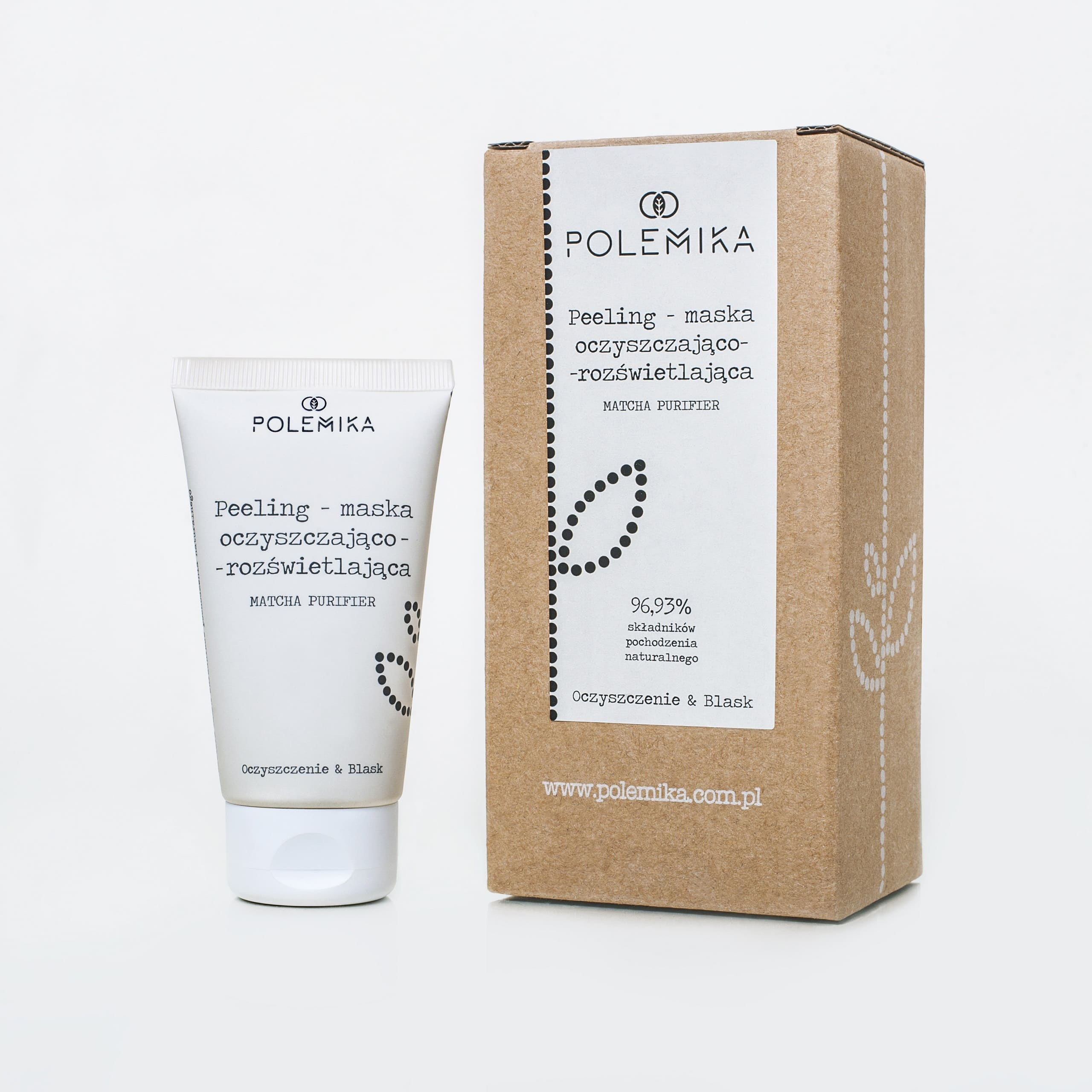 Product - purifying and lightening exfolation mask Polemika